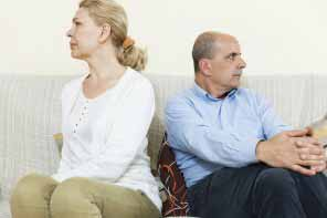 Senior couple is unhappy with each other afetr a quarell