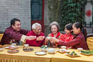 Happy Chinese familly