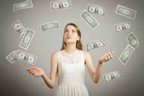 The lady after money