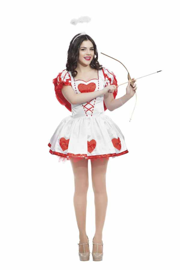 Valentines day cupid with bow and arrow ready to find love