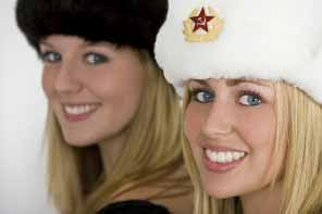 Beautiful smiling Russian girls