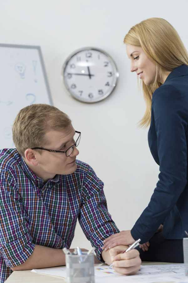 Friends having affair at work