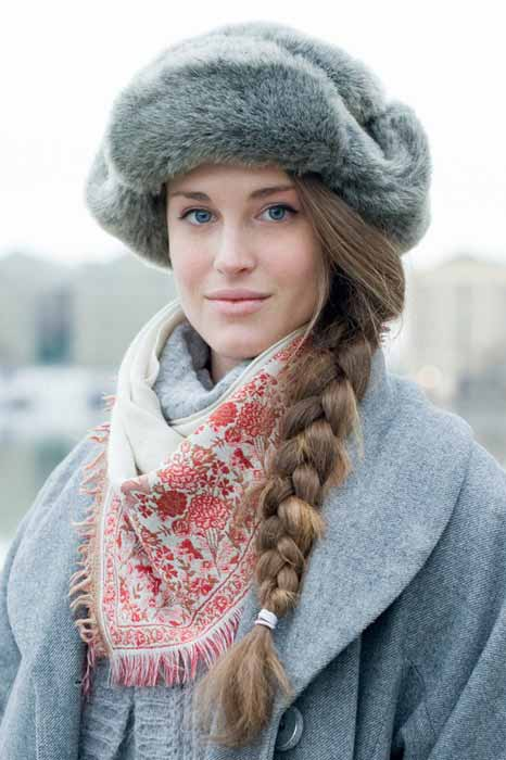 Gourgeous Russian girl in a hat