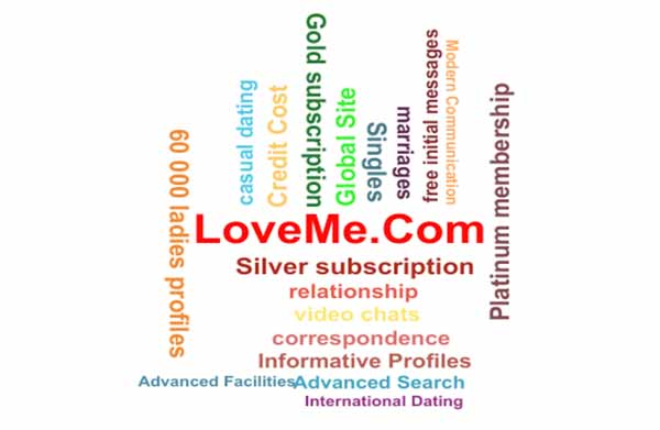 words related to dating at LoveMe.Com
