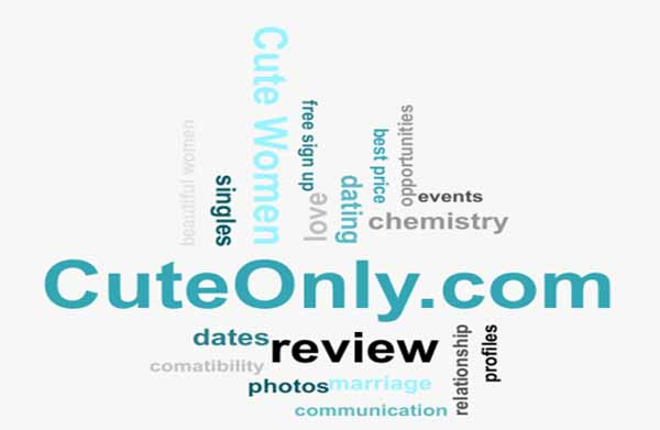 word cloud relevant to dating at CuteONly.Com