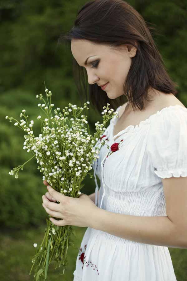 romantic Slavic woman