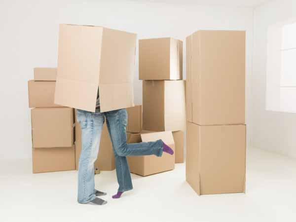 couple kissing under box