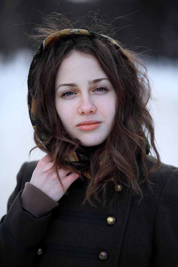 Thoughtful Beautiful Russian Girl