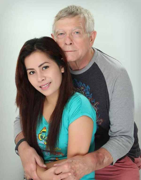 Happy Intergenerational Couple at home