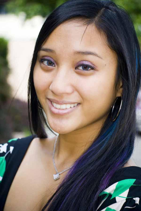 Beautiful Young Filipina smiling wide