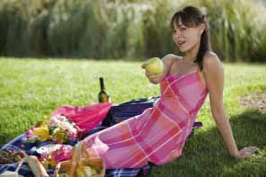 Attractive Filipina girl with apple