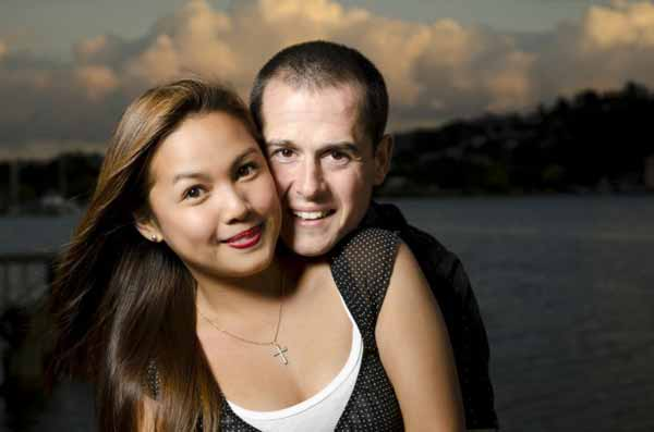 Interracial happy couple