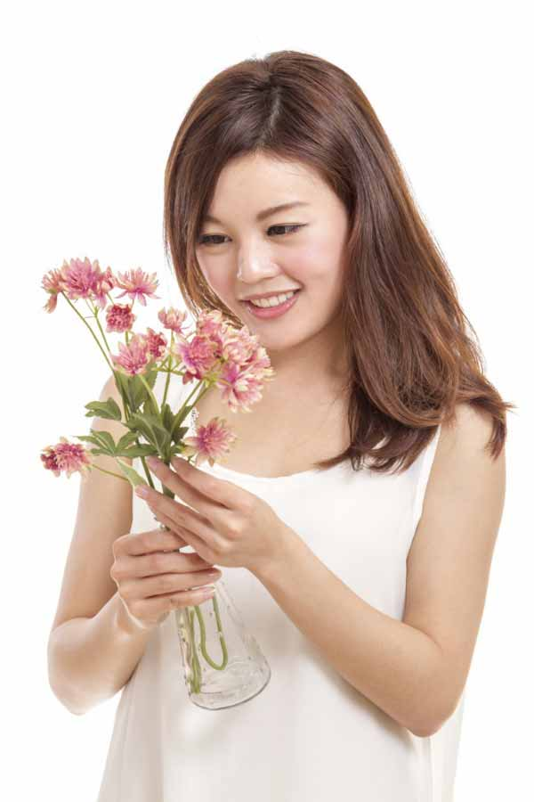 Beautiful Smiling Chinese woman