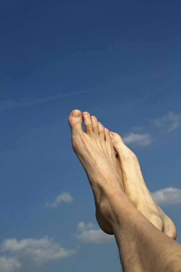 feet in the sky