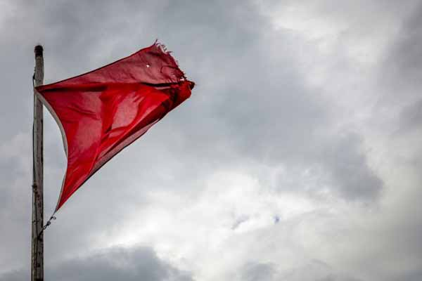 Danger red flag