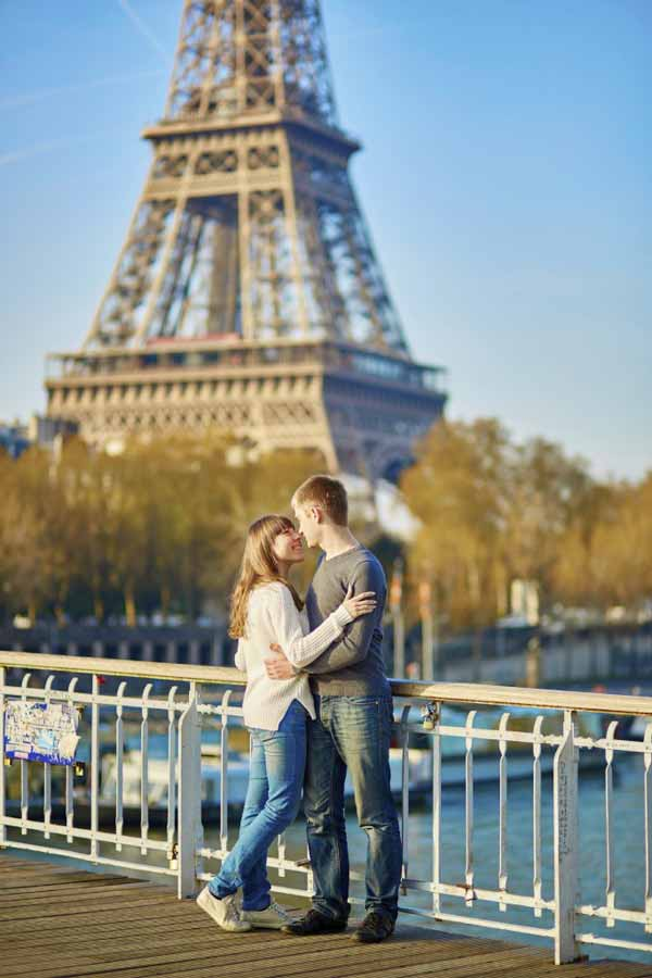 Young loving couple in Paris