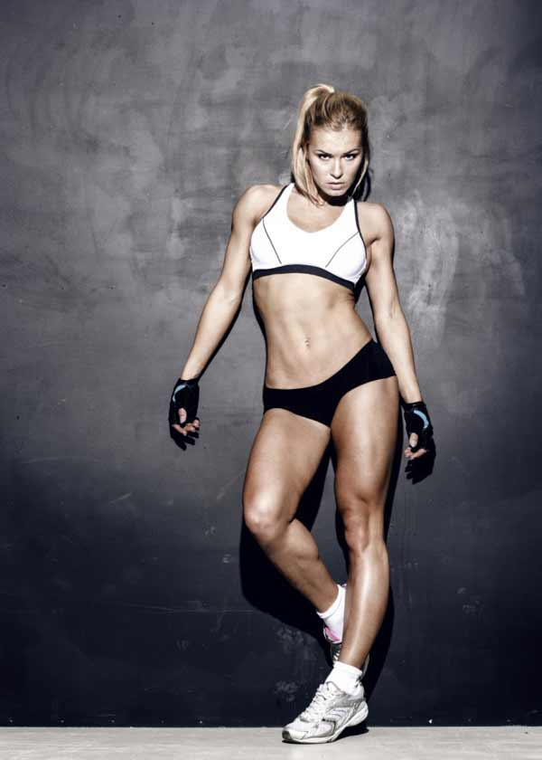 attractive fitness woman