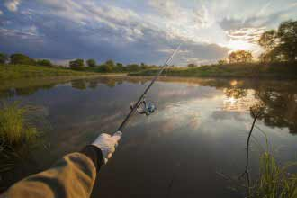 fishing in early morning