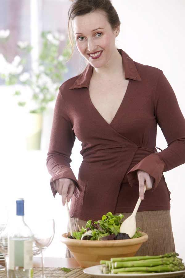 Woman Tossing Salad