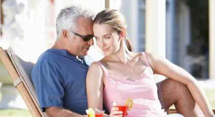 Older man dating younger woman called