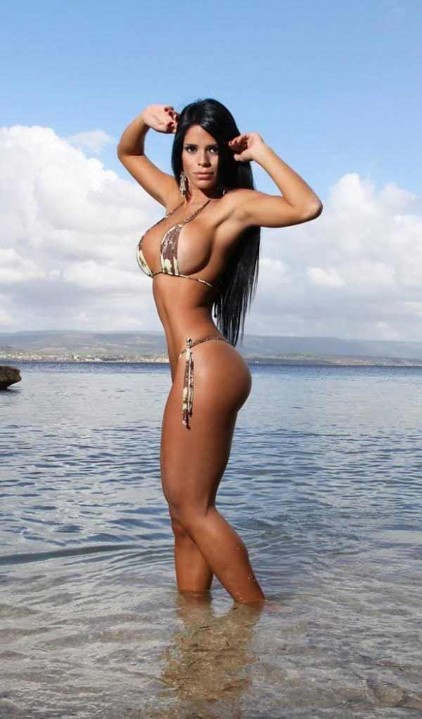 Sexy curvy Brazilian woman