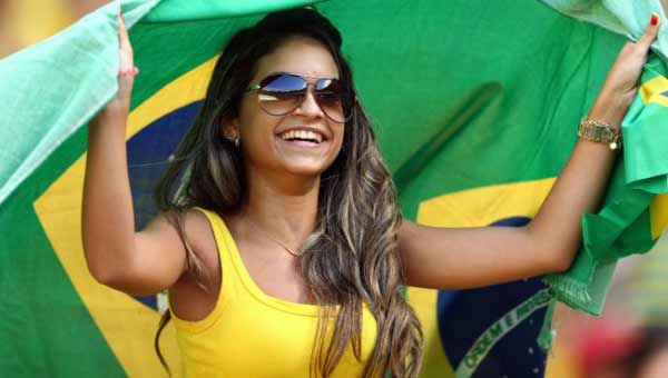 a beautiful Brazil Soccer Fan