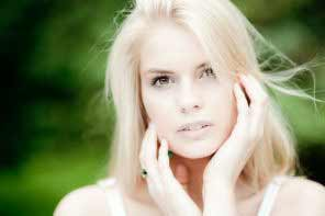 a beautiful Estonian blond girl