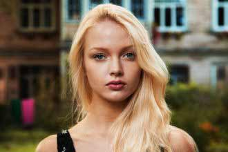 beautiful blonde Latvian girl