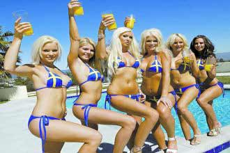 Young Swedish women in bikini