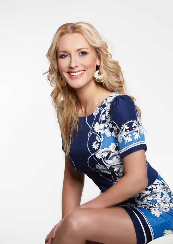 stunning blonde Latvian woman