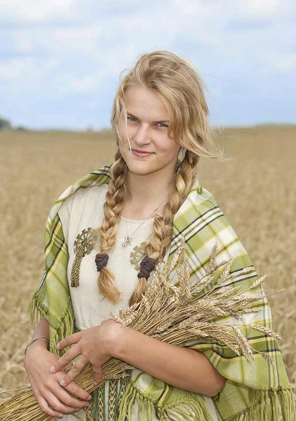an attractive Lithuanian woman