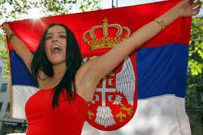 a young Serbian girl with black hair