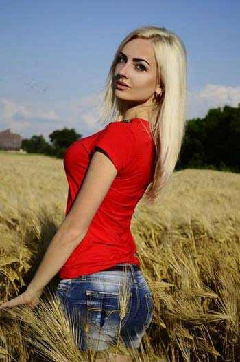 a young polish girl in red T-shirt