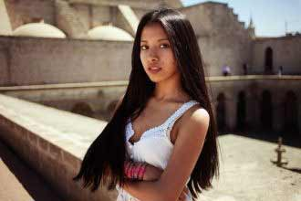 a young long-haired Mexican girl