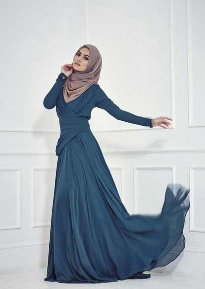 a Muslim woman in a national dress