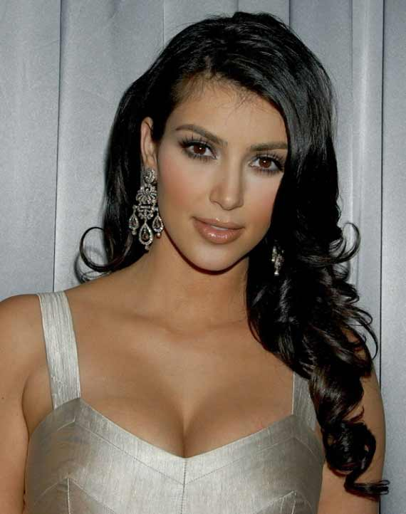 Kim Kardashian in silver dress
