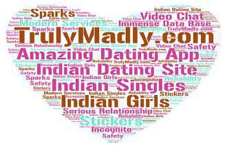 trulymadly.com word cloud