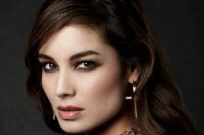 A portrait of a beautiful Greek woman