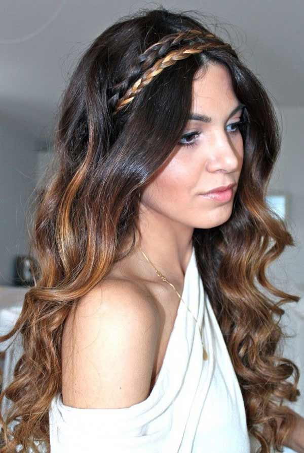 a beautiful Greek girl with traditional hair style