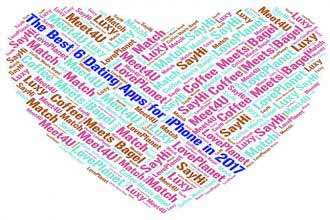 a word cloud in heart shape