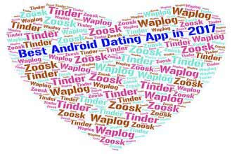 best Android dating apps 2017 word cloud