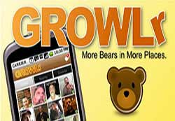 GROWLr is a gay dating app which caters for bears