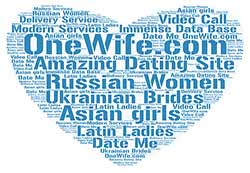 onewhife.com dating site word cloud