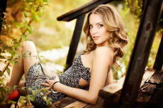 a gorgeous blonde lady from Ukraine