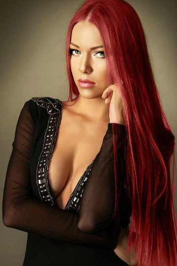 a gorgeous red-haired Bratislava girl i