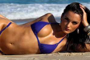 A stunning Brazilian woman
