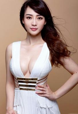 a young beautiful Chinese girl posing