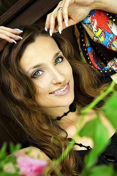 a smiling beautiful Russian woman