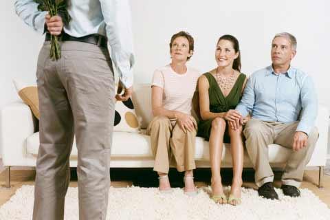 Man Meeting Girls Parents