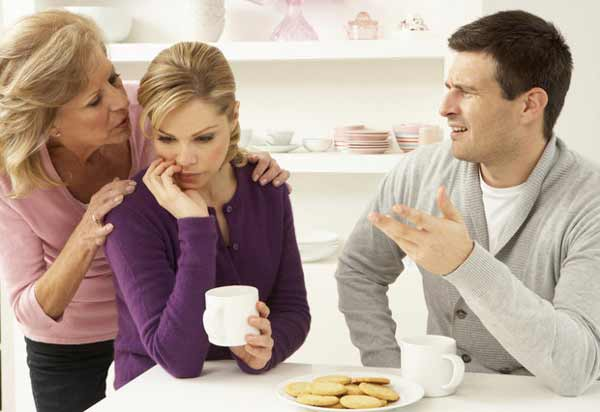 Mother Interfering With Couple